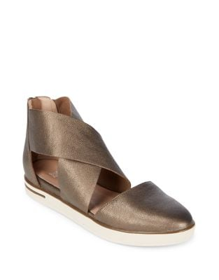 Carver Criss-Cross Leather Flats by Eileen Fisher