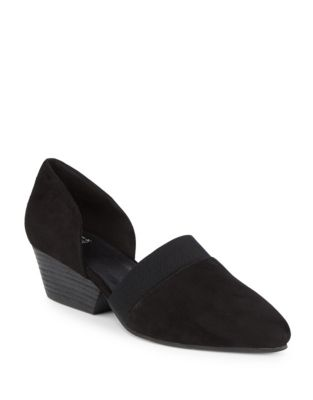 Hilly Suede D'Orsay Pumps by Eileen Fisher