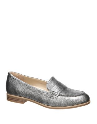 Veronica Shimmer Leather Moc Shoes
