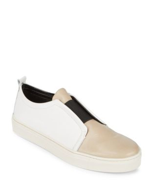 Rapture Leather Slip-Ons by The Flexx