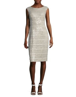 Photo of Sequin Sleeveless Dress by Vince Camuto - shop Vince Camuto dresses sales