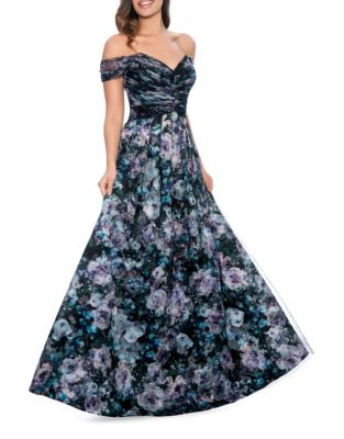 Floral Fit-&-Flare Ball Gown by Decode 1.8