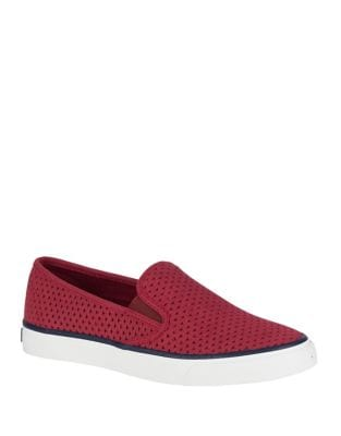 Sperry PERFORATED LEATHER SNEAKERS