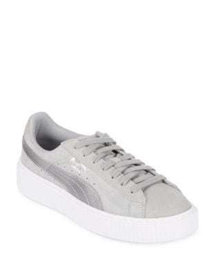 Suede Lace-Up Sneakers by PUMA