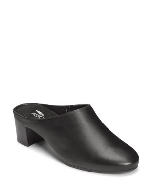 Crashpad Leather Mules by Aerosoles