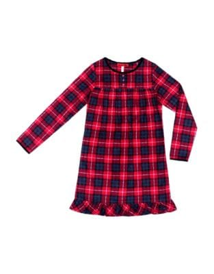 Girls' Plaid Night Dress...