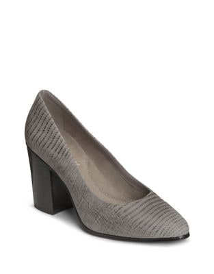 Union Square Embossed Leather Pumps by Aerosoles