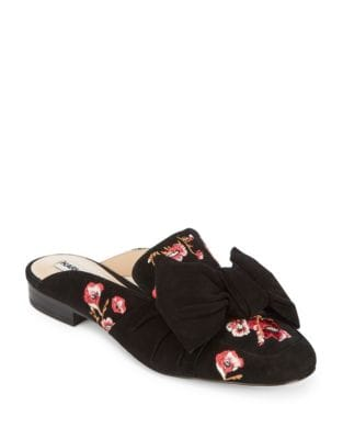 Odetta Leather Mules by Karl Lagerfeld Paris