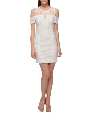 Cold Shoulder Bodycon Dress by Guess