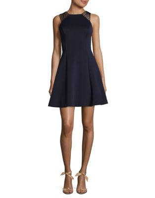 V-Back Fit and Flare Dress by Guess