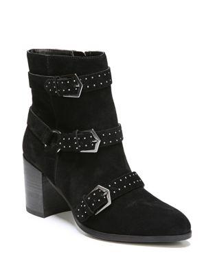 Blair Block Heel Leather Bootie by Fergie