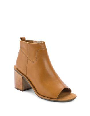 Vivvy Open Toe Leather Booties by Latigo