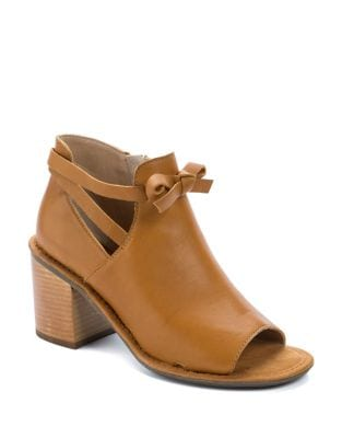 Virgo Leather Open Toe Booties by Latigo