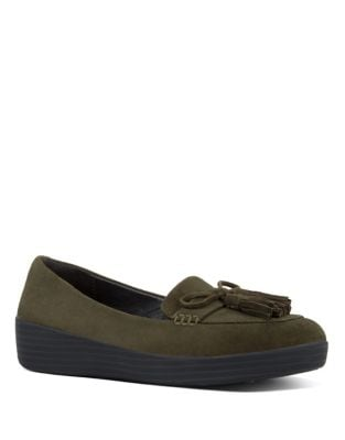 Tassel Bow TM Suede Loafers by FitFlop