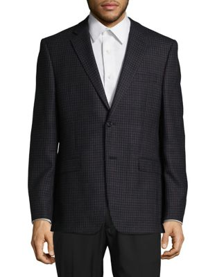 Wool Two-Button Blazer...