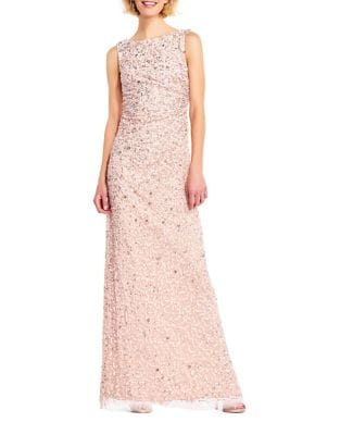 Bead Embellished Gown by Adrianna Papell
