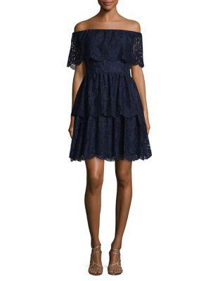 Off-the-Shoulder Lace Dress by Eliza J