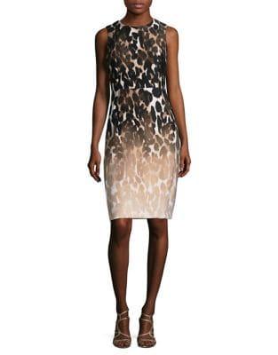 Photo of Printed Sheath Dress by Calvin Klein - shop Calvin Klein dresses sales