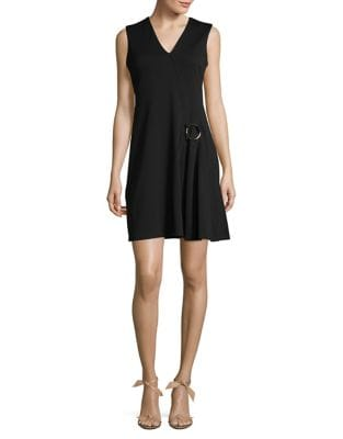 Knit Mock-Wrap Dress by Calvin Klein
