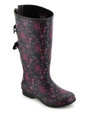 Zuri Versa Wide Calf Rubber Tall Rain Boots by Chooka