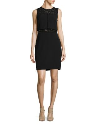 Lace-Trimmed Popover Dress by Aidan Aidan Mattox