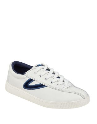 Contrasting Leather Sneakers by Tretorn