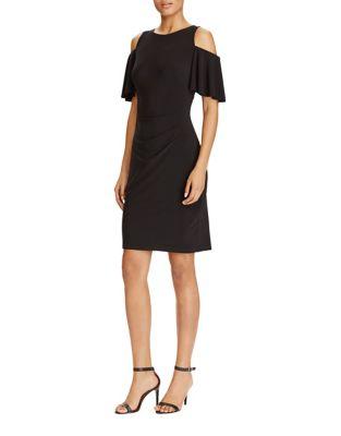 Cold Shoulder Jersey Sheath Dress by Lauren Ralph Lauren