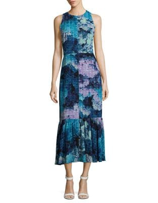 Abstract-Print Sleeveless Dress by Maggy London