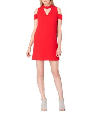 Cold Shoulder Choker Dress by Tahari Arthur S. Levine