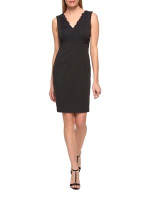 Lace Ponte Sheath Dress by Tommy Hilfiger