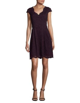 Pleated Lace Dress by Vince Camuto