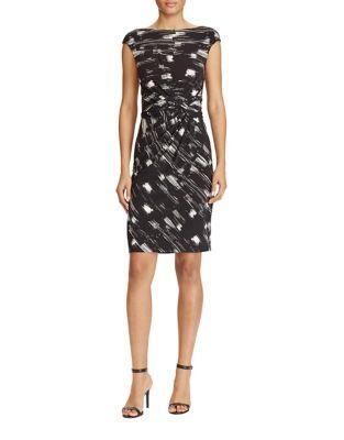 Printed Jersey Sheath Dress by Lauren Ralph Lauren