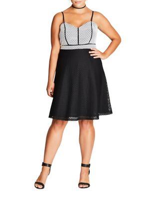 Plus Knee-length Sleeveless Dress by City Chic