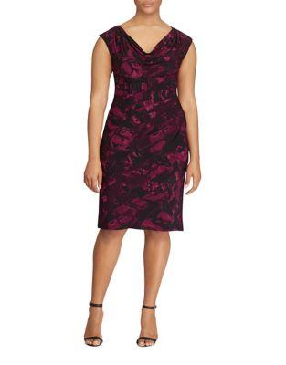 Printed Jersey Cowlneck Dress by Lauren Ralph Lauren