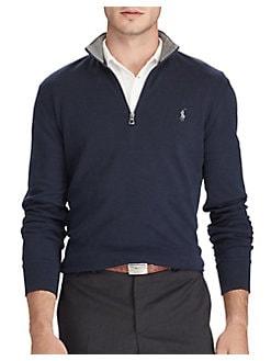 553fc13d0 QUICK VIEW. Polo Ralph Lauren. Luxury Jersey Half Zip Sweatshirt
