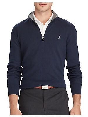 29663ccd16 Polo Ralph Lauren - Luxury Jersey Half Zip Sweatshirt - lordandtaylor.com