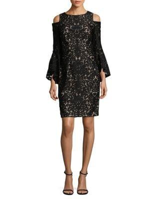 Patterned Cold-Shoulder Dress by Xscape