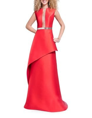 Layered Floor-Length Gown by Glamour by Terani Couture