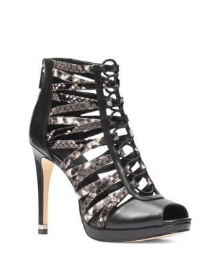 Clarissa Leather Platform Booties by MICHAEL MICHAEL KORS