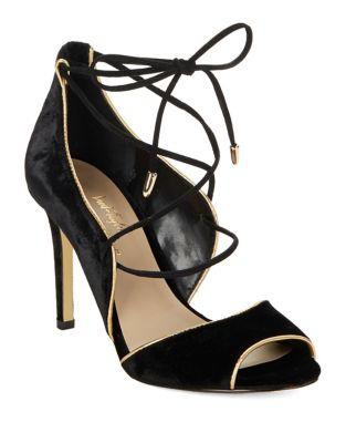 Gessa 2 Open-Toe Lace-Up Heels by 424 Fifth