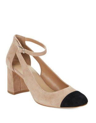 Geri Suede Cap Toe Heels by 424 Fifth