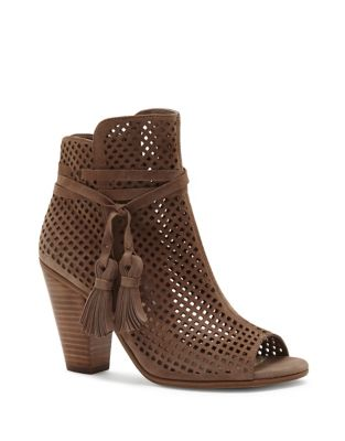 Leather Peep Toe Bootie by Vince Camuto
