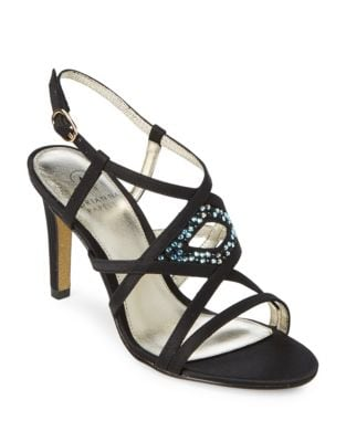 Ace Embellished Leather Sandals by Adrianna Papell