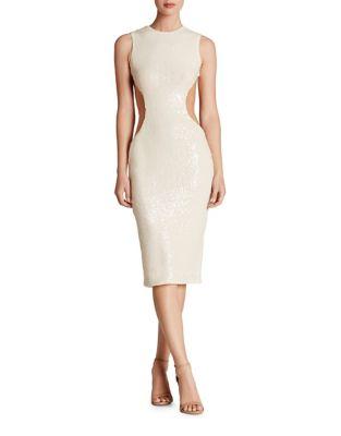 Sleeveless Sequin Midi Dress by Dress The Population