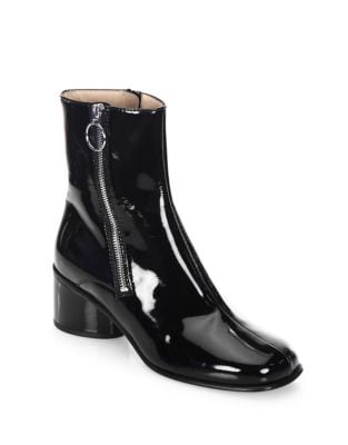 Leather Double Zip Booties by Marc Jacobs