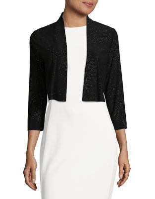 Cropped Open-Front Jacket by Calvin Klein