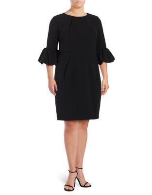 Plus Melania Crepe Sheath Dress by Betsy & Adam