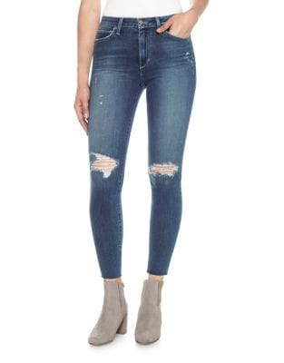 Charlie High-Rise Distressed Ankle Skinny Jeans 500087266486