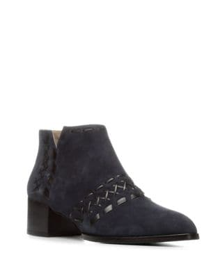 Bowery Suede Booties by Donald J Pliner