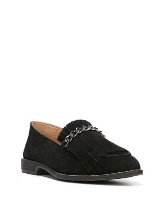 Kiltie and Chain Leather Loafers by Franco Sarto